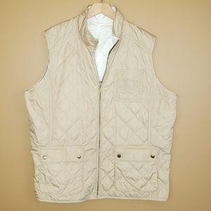 Ralph Lauren quilted reversible vest